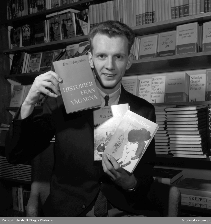 Bokens vecka på Jonzons bokhandel.