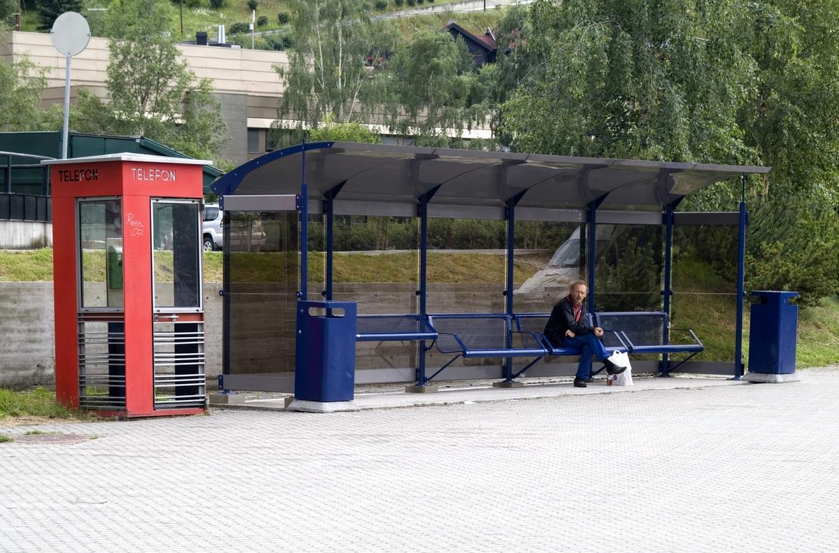 Denne telefonkiosken står i Ola Dahls gate 1, Otta, og er en av de 100 vernede telefonkioskene i Norge. De røde telefonkioskene ble laget av hovedverkstedet til Telenor (Telegrafverket, Televerket). Målene er så å si uforandret.  Vi har dessverre ikke hatt kapasitet til å gjøre grundige mål av hver enkelt kiosk som er vernet.  Blant annet er vekten og høyden på døra endret fra tegningene til hovedverkstedet fra 1933. Målene fra 1933 var: Høyde 2500 mm + sokkel på ca 70 mm Grunnflate 1000x1000 mm. Vekt 850 kg. Mange av oss har minner knyttet til den lille røde bygningen. Historien om telefonkiosken er på mange måter historien om oss.  Derfor ble 100 av de røde telefonkioskene rundt om i landet vernet i 1997. Dette er en av dem.