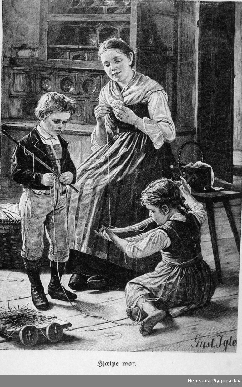 """¨Børnetidene"""" Årgang 1903, 1904, 1905. """"Hjælpe mor."""""""