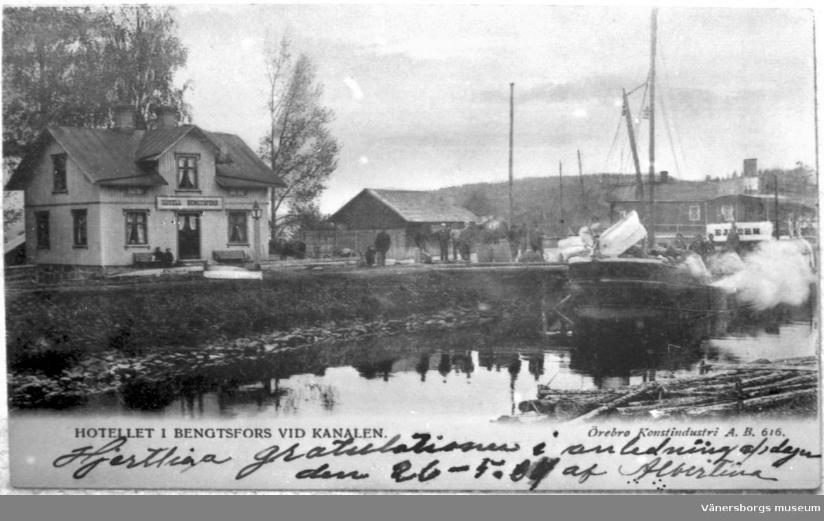 Hotellet i Bengtsfors vid kanalen