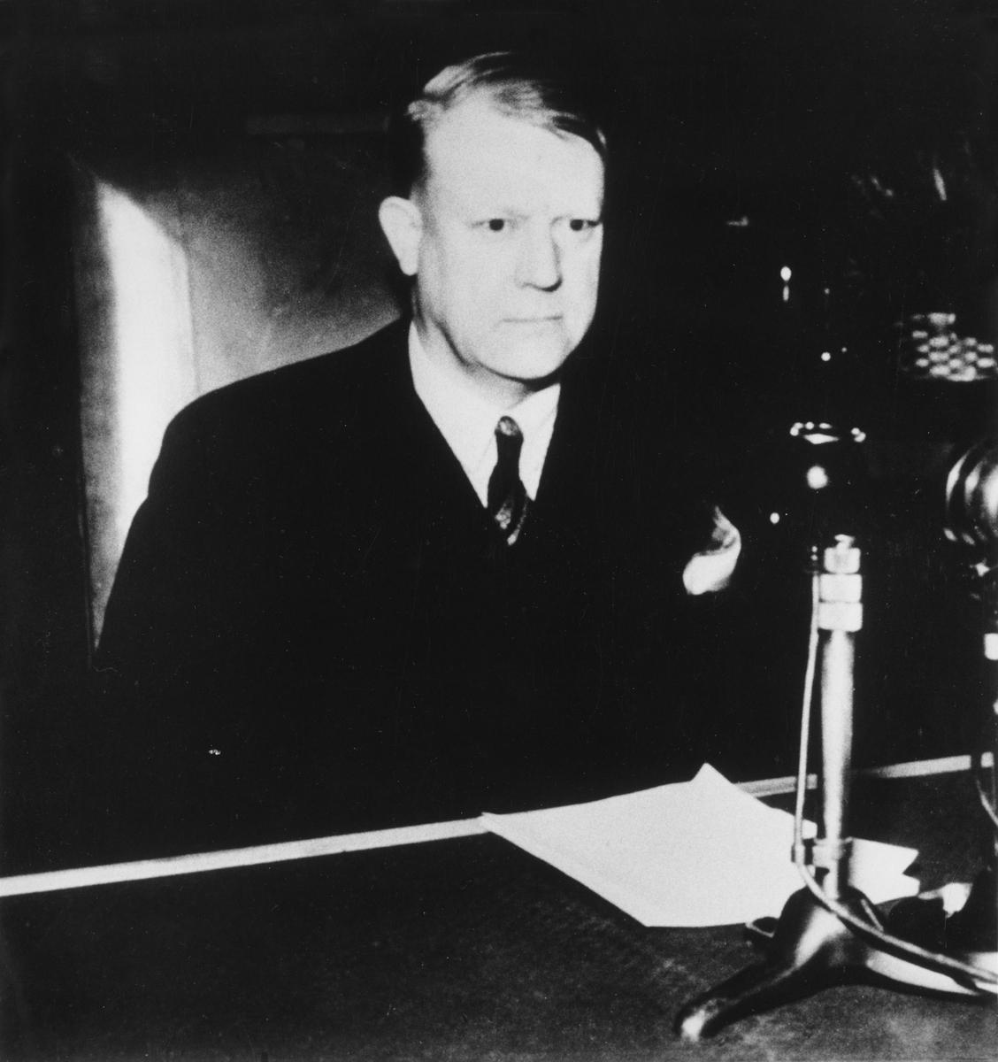 portrett, mann, Vidkun Quisling, krigen, 2. verdenskrig, Nasjonal samling
