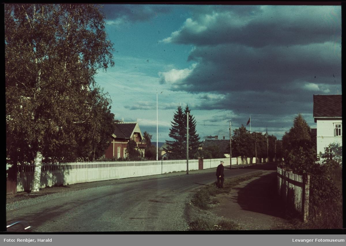 Innkjøringen til Levanger By sørfra
