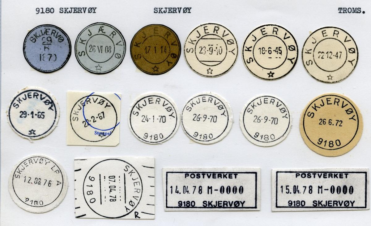 Stempelkatalog  9180 Skjervøy, Skjervøy kommune, Troms