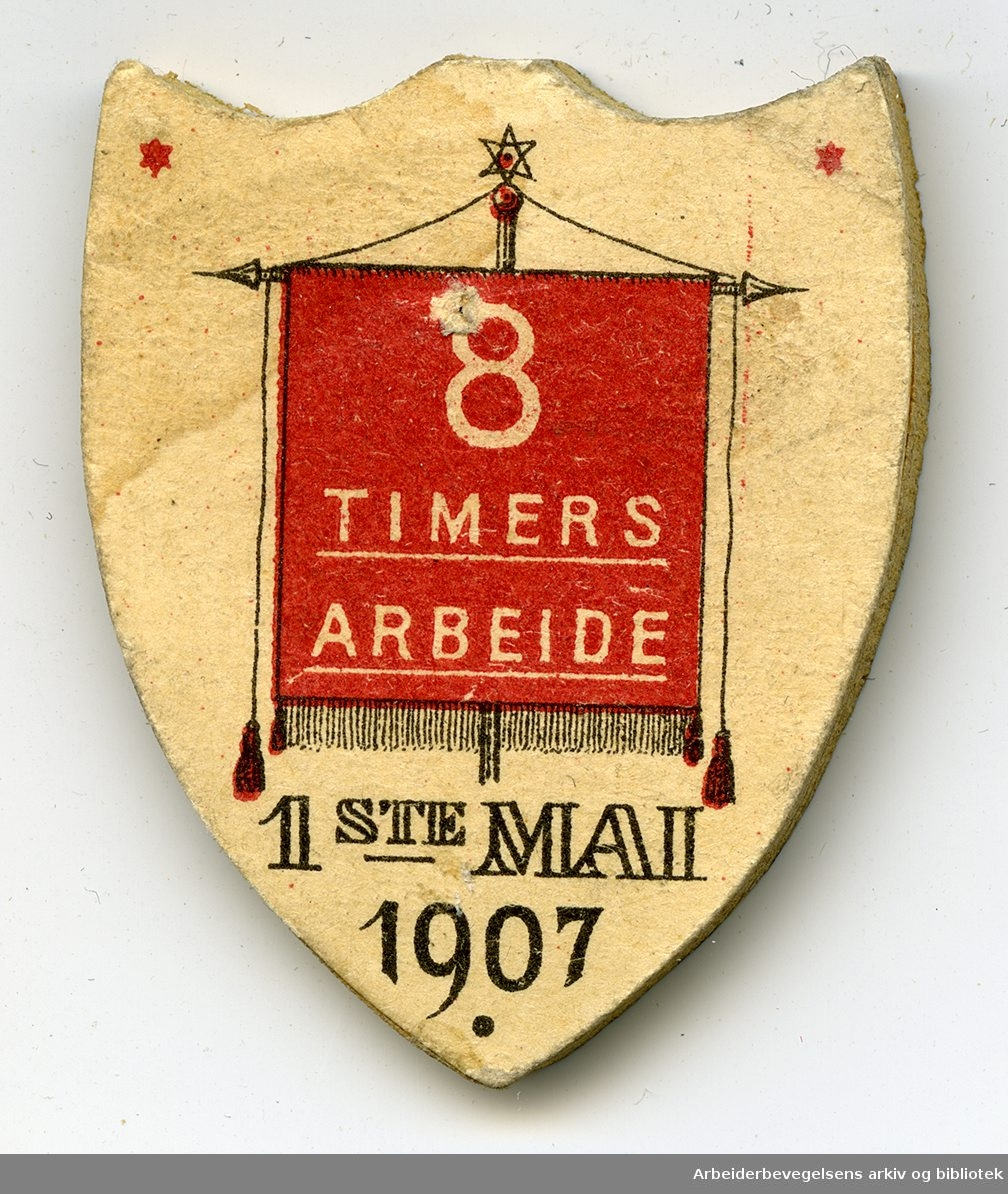 Arbeiderpartiets 1. mai-merke fra 1907