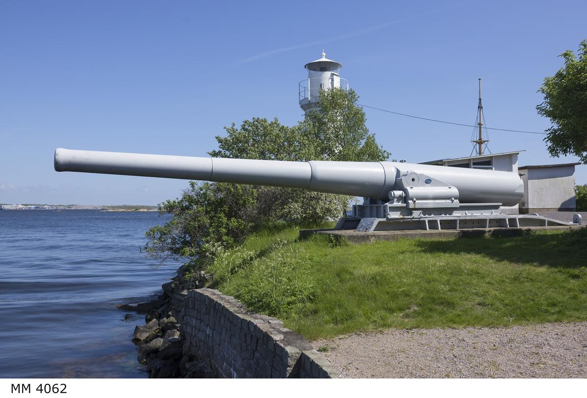 Kanon 25,4 cm Boforskanon m/94 C. Nr 6 med lavett.