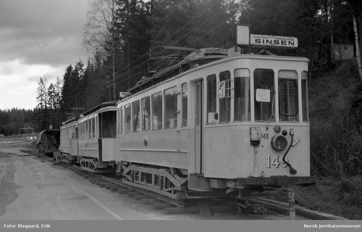 Museumsvogn nr. 149 fra Oslo Sporveier på Vinterbro