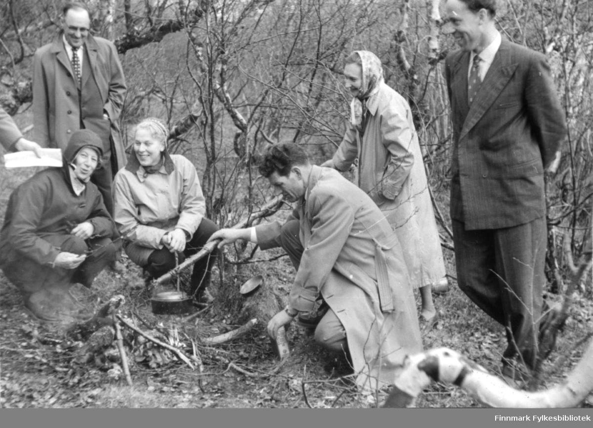 St. Hansfeiring ved søsterhytta i Tomaselvdalen på slutten av 1950 tallet
