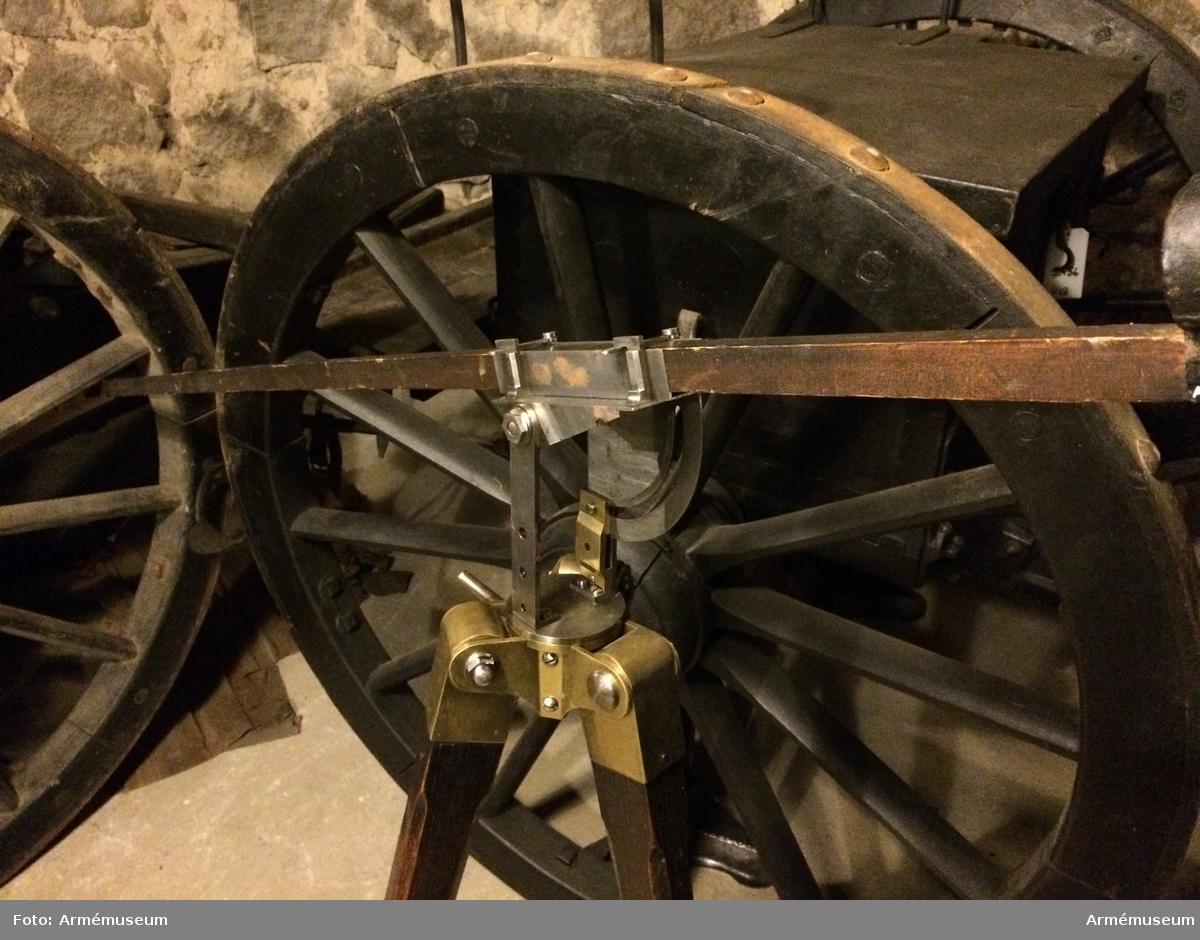 Grupp F II.  Käpp till 6 cm (2 tum) krigsraket. 1833-45, artilleriet.