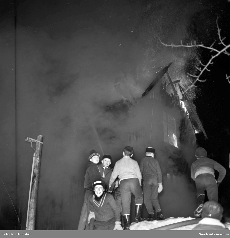 Brand i bostadshus i Granlo.