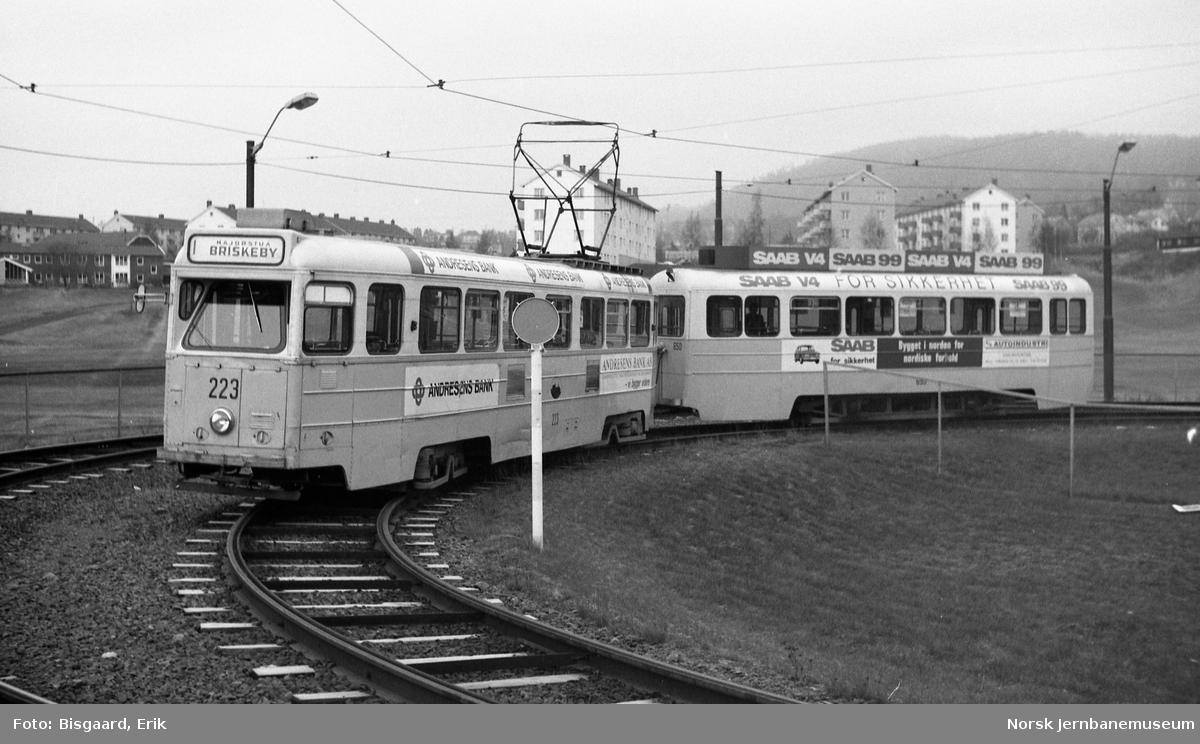 HØKA-motorvogn 223 med tilhenger i Oslo