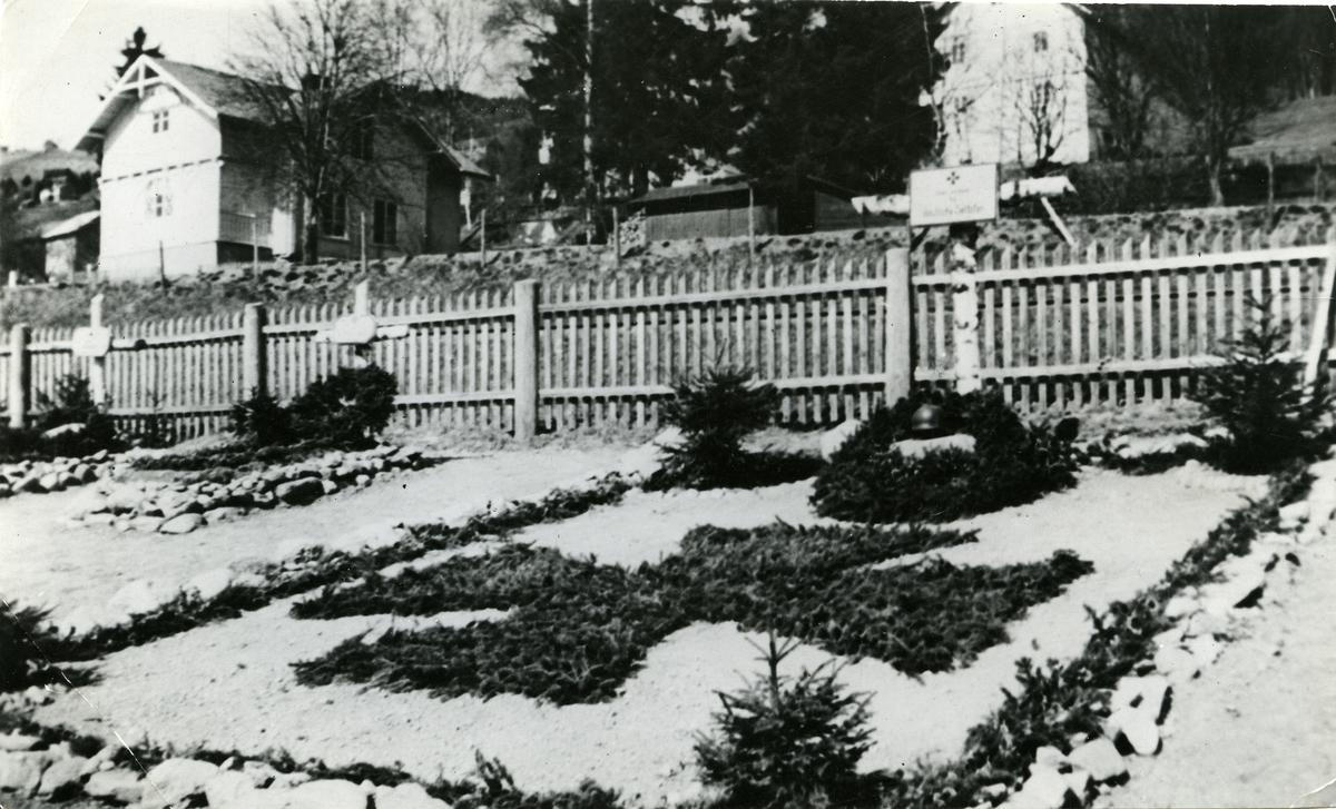 Aurdal kirkegård i Nord-Aurdal. Tyske krigsgraver.