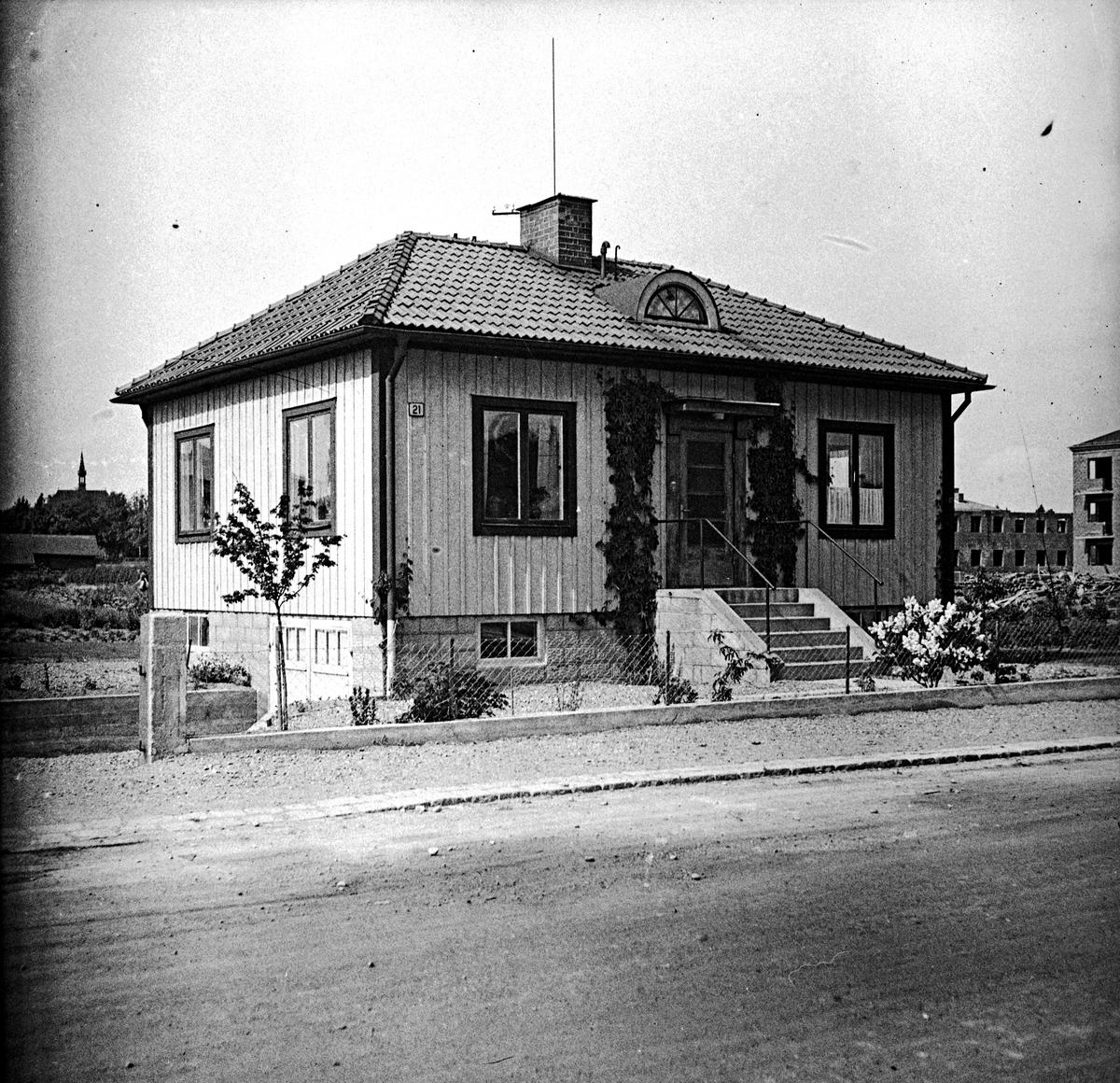 Bergkvists villa på Byjorden 1944. Fotograf: E Sörman Fotokopia finns.