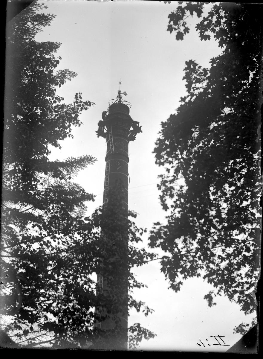 Reparation av skorsten vid KMV Fotograf: E Sörman 1931 Fotokopia finns.