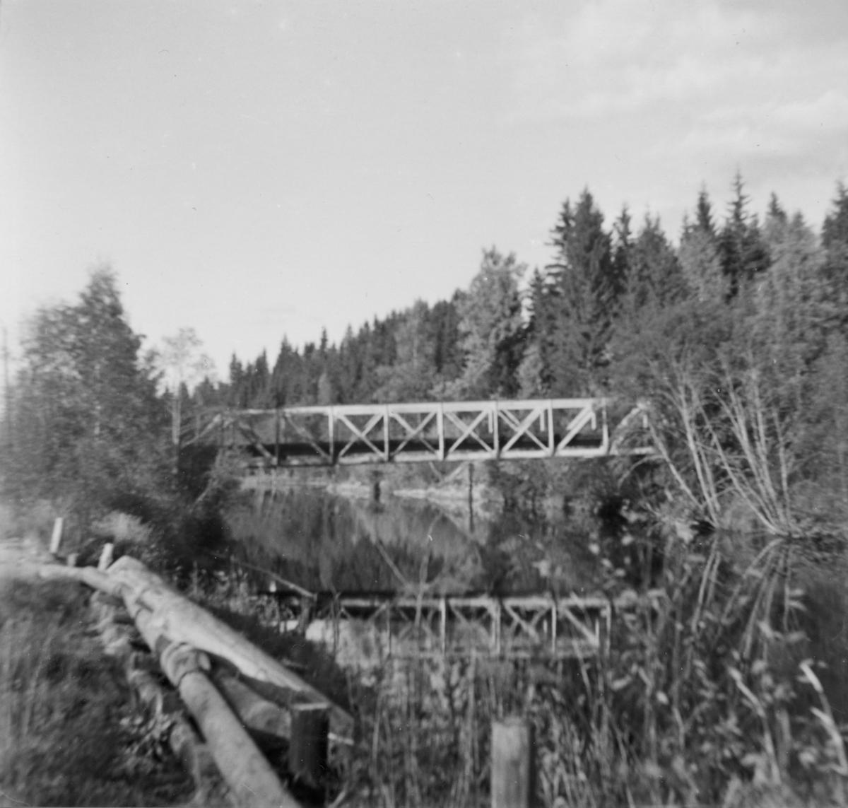 Elverum bro mellom Hemnes og Skulerud på Urskog-Hølandsbanen.