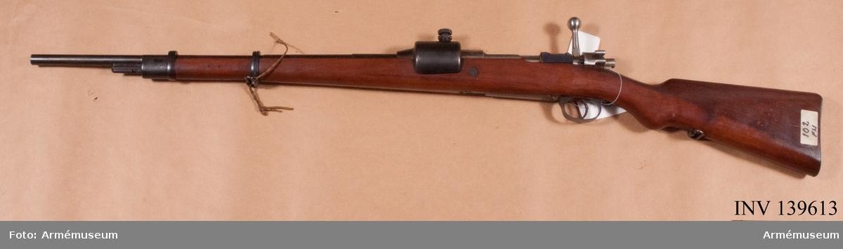 Ammunitionsprovningsgevär 8x63 mm FN tnr 102.