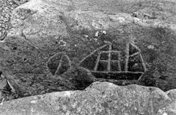 Ristat tvåmastat skepp på sten, Cape Alava, Olympic National