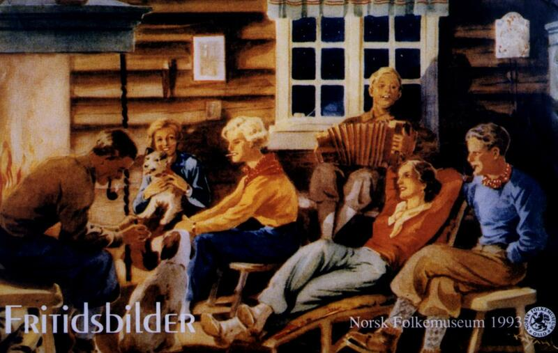 Plakat for utstillingen «Fritidsbilder», 1993.