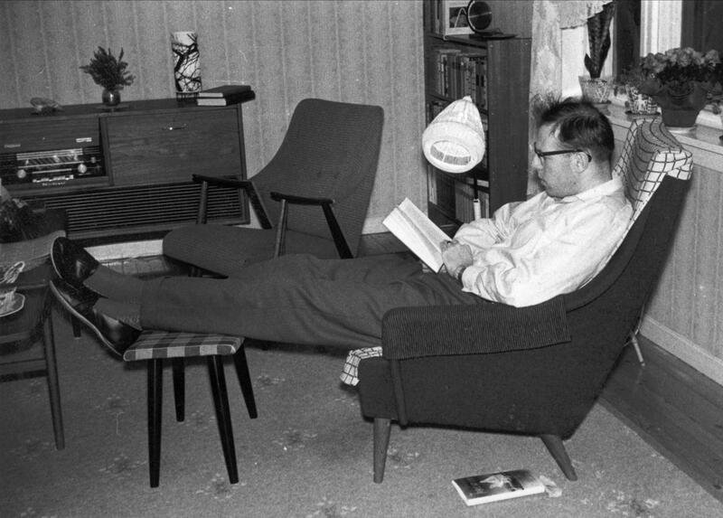 Leselysten var stor. Fredrikstad, 1960. (Foto/Photo)