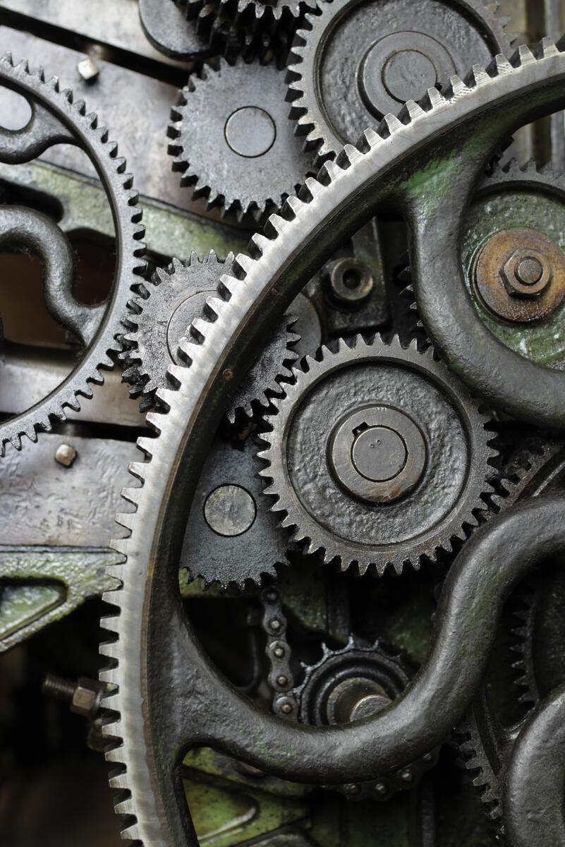 tannhjul i gammalt kardeverk (Foto/Photo)