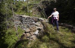 Renne mellom Norske Løve og Christianus Sextus gruver. (Foto/Photo)
