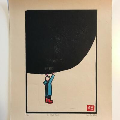 Å være far, Andreas Brekke, Lino,5x42cm, kr 1500,- (Foto/Photo)