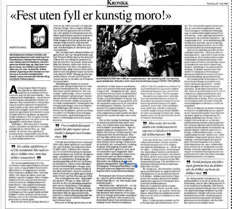 Aftenposten 18051995 (Foto/Photo)