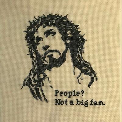 Åsa Weiland, Broderi Jesus/People, 26,5x31,5cm, kr 2200 (Foto/Photo)