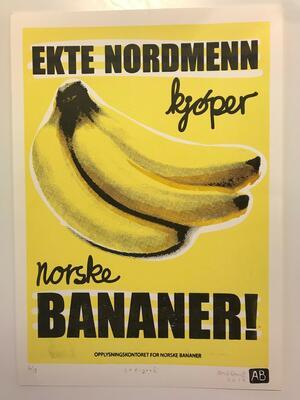Norske bananer, Andreas Brekke, Silketrykk, 30x42cm kr 1000,- (Foto/Photo)