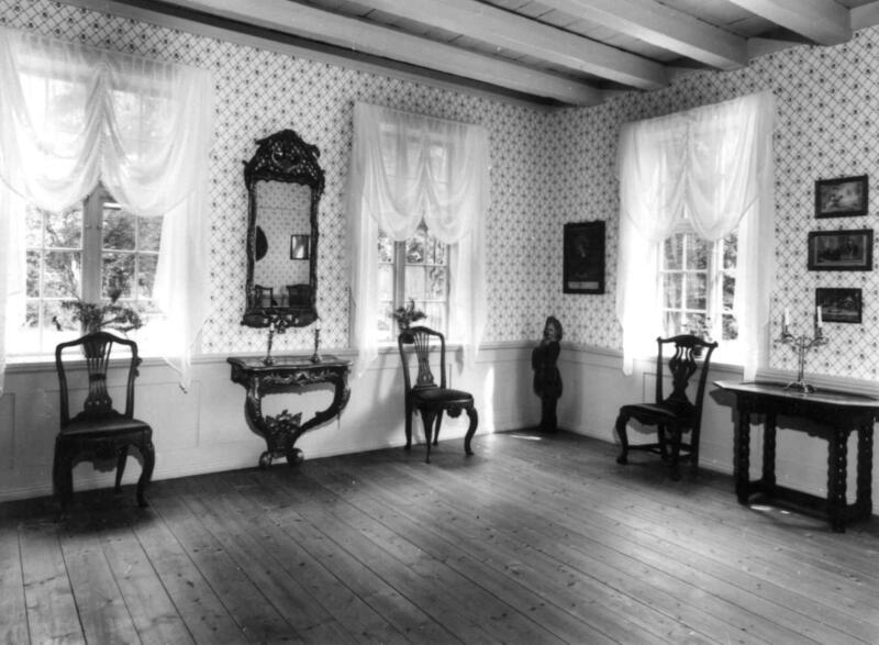 Interiør i Chrystiegården, fotografert i 1973. (Foto/Photo)