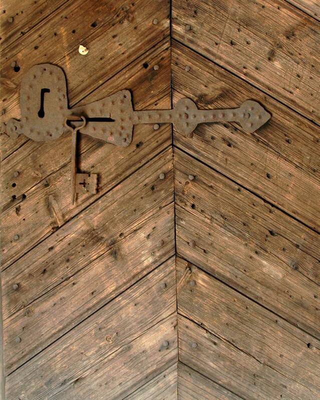Dør med lås og nøkkel HF-01947 detalj (Foto/Photo)