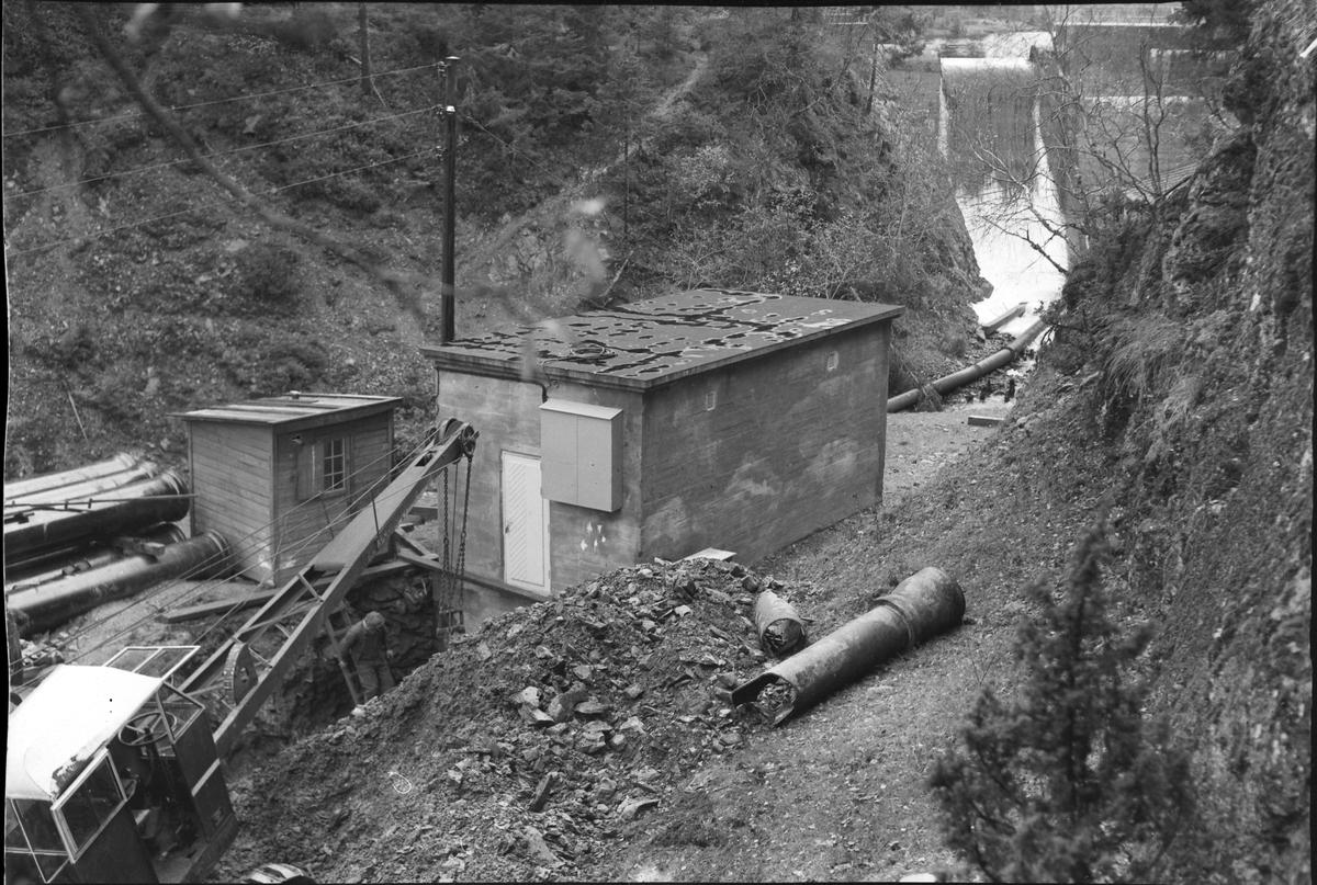 Tilkopling av vannledning ved Leirsjøen