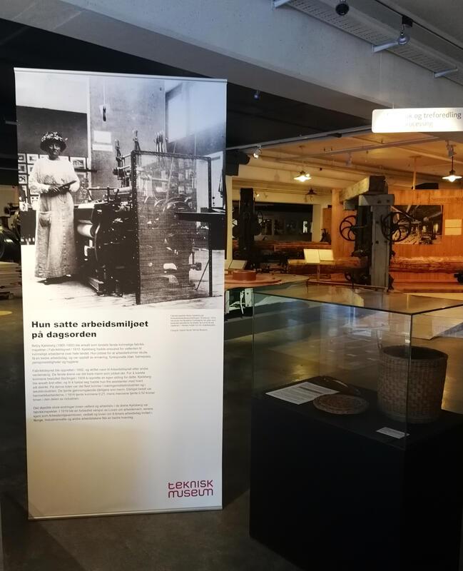 Utstillingsdetalj fra Teknisk museum: Betzy Kjelsberg ‒ Norges første kvinnelige fabrikkinspektør. (Foto/Photo)