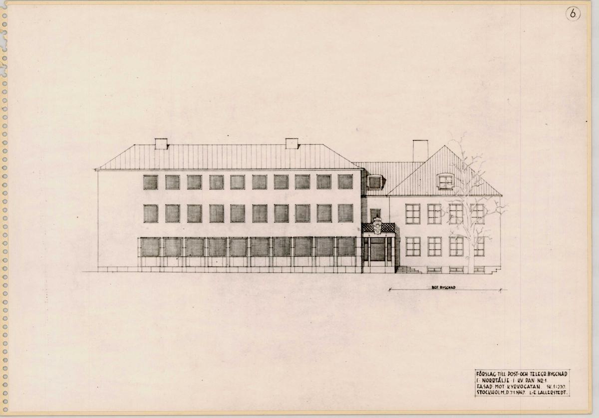 Post- och telegrafhus Norrtälje.