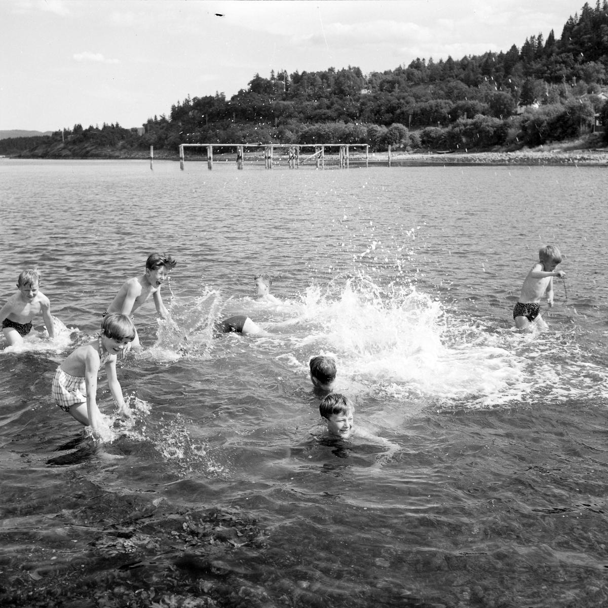 Badeliv og soling på Vikhammerløkka