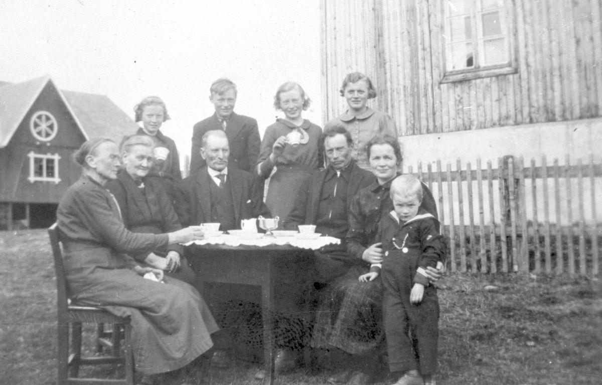 Gjester på besøk  på Grythe, Vestre Slidre.