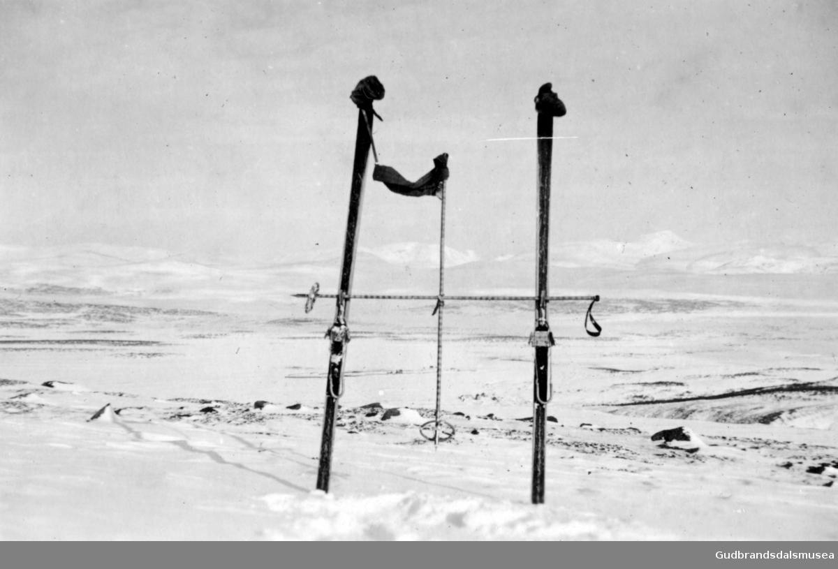 Haakon VII markering under krigen. Gråhø ovanfor Fokstugu.