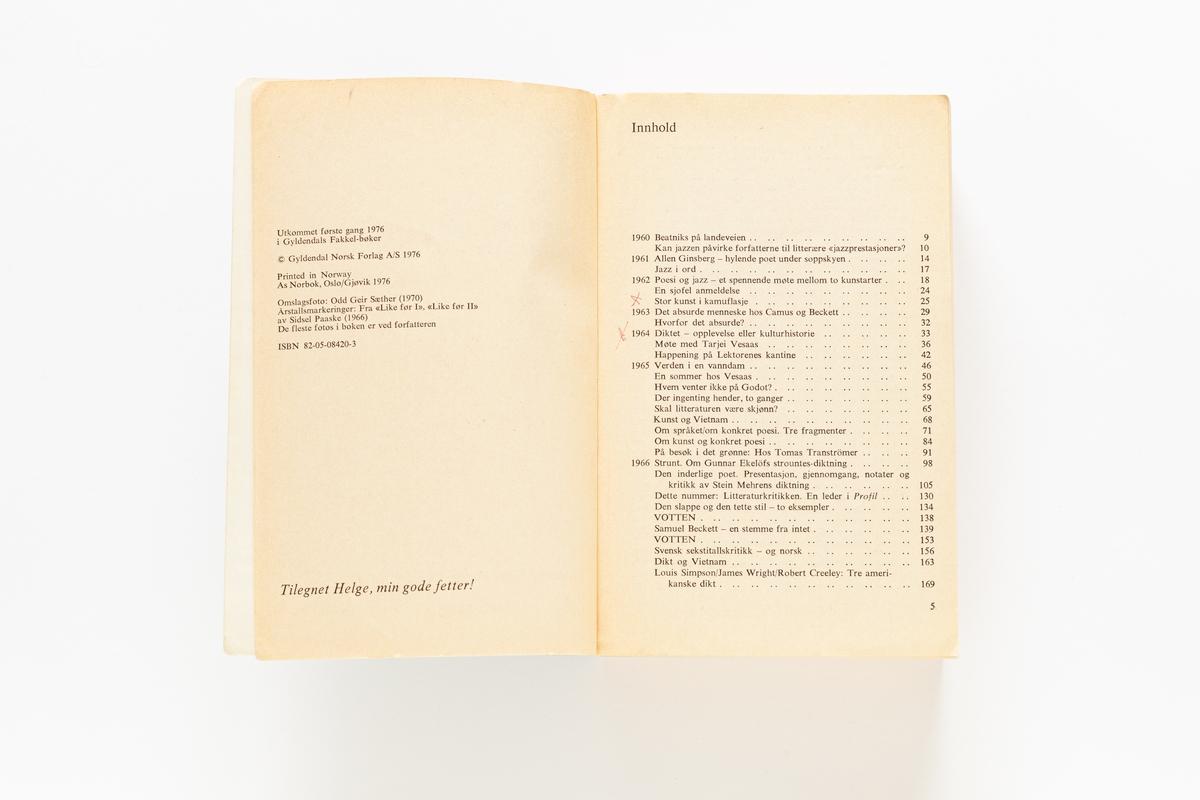 Jan Erik Vold: Entusiastiske Essays