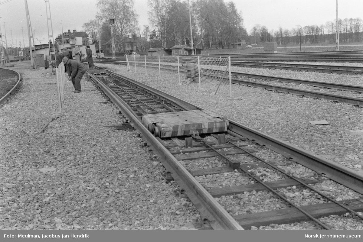 Tralle, system Hillairet (ASEA) på skiftestasjonen i Gävle, Sverige. Prøveanlegg
