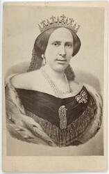 Kabinettsfotografi - drottning Lovisa, 1870