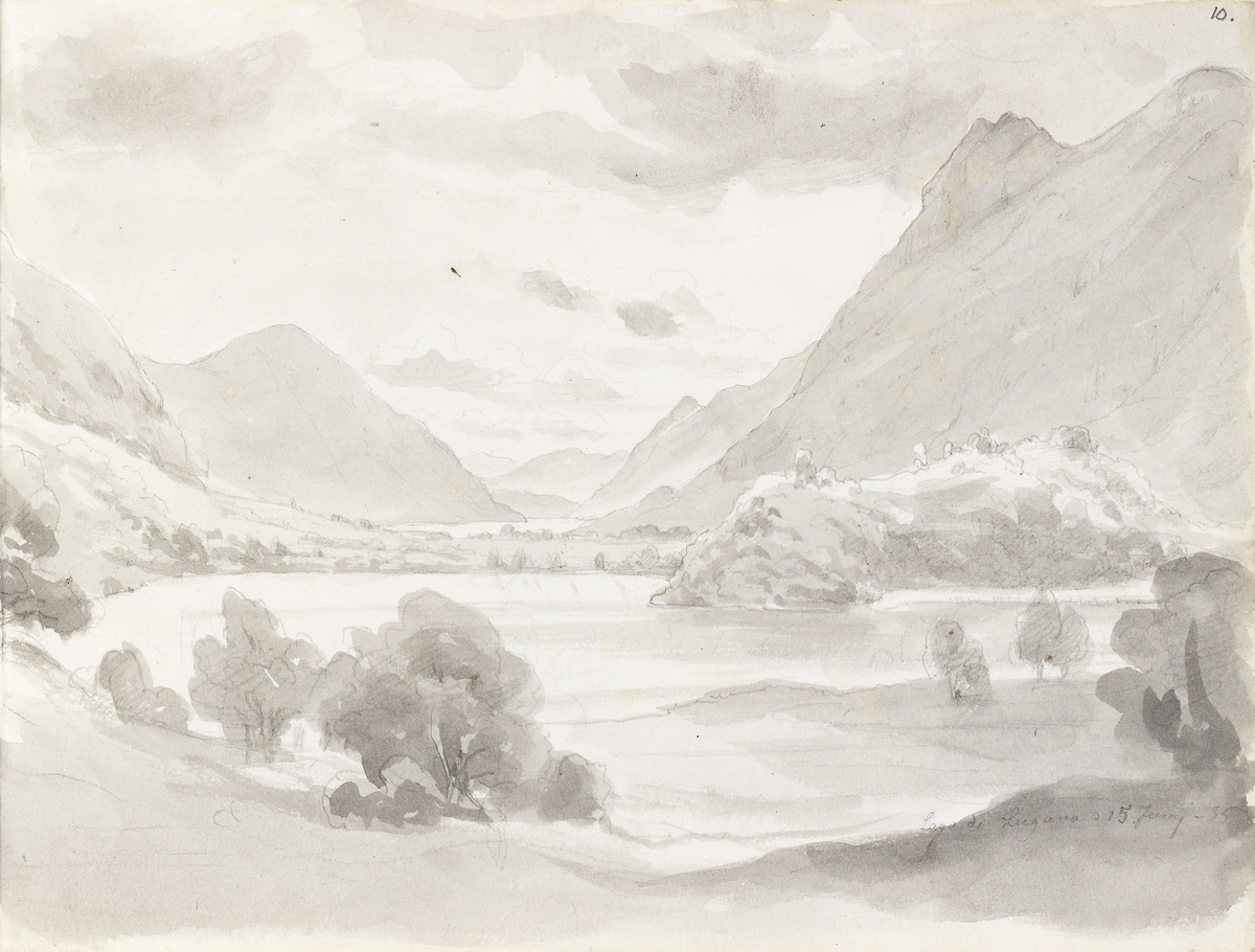 Fra Luganosjøen [Tegning]