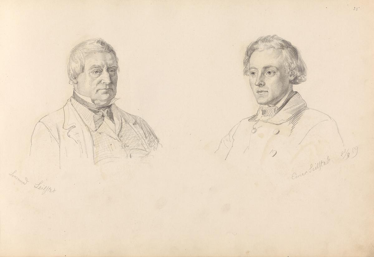 Lensmann Johannes Olausen Seielstad; Einar Seielstad [Tegning]