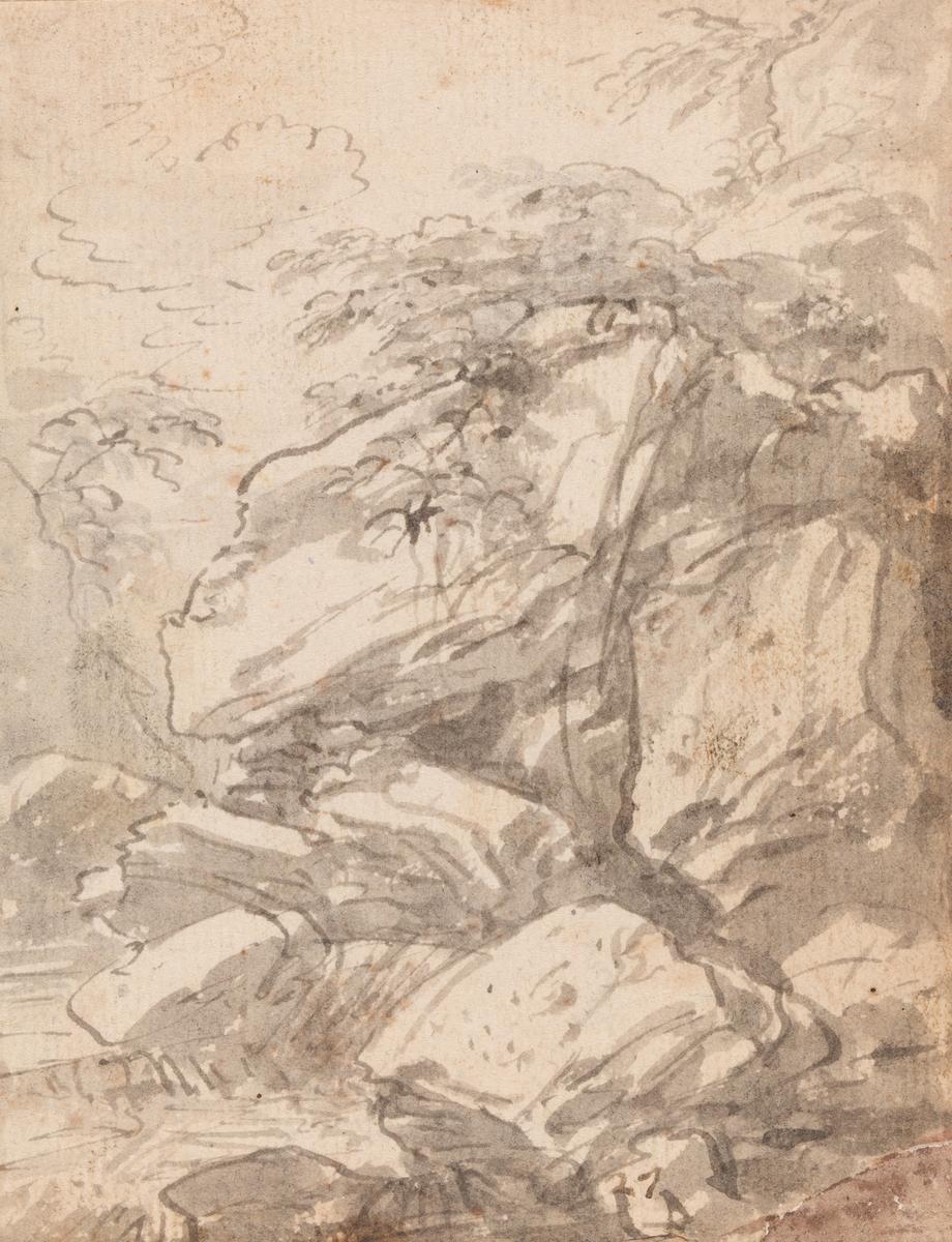 Landskap med stener [Tegning]