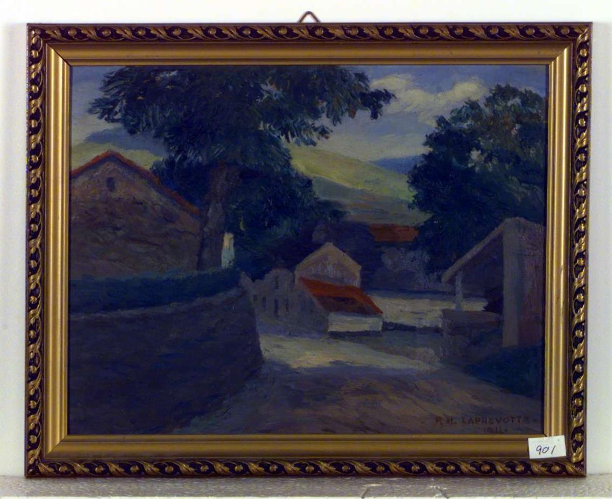 Del av en landsby eller bondegård.