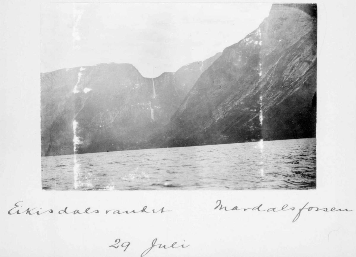 Album, foss, vann, fjell
