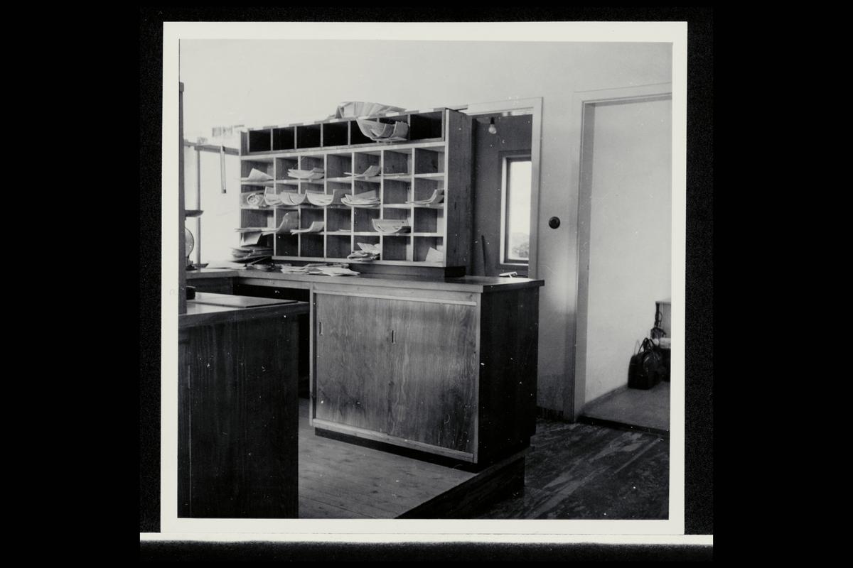 interiør, postkontor, 8200 Fauske, skranke, sorteringsreol