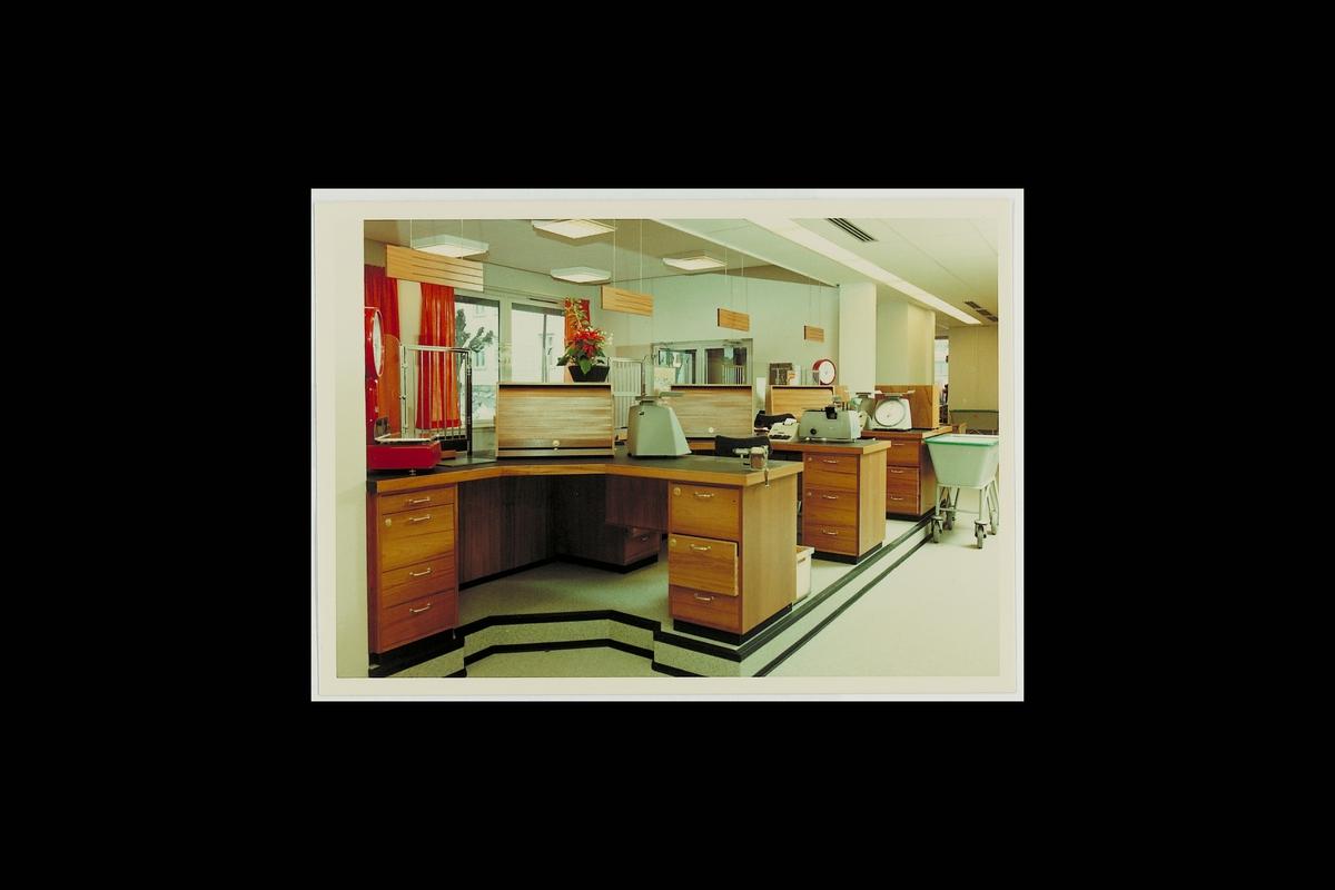 interiør, postkontor, 3970 Langesund, ekspedisjon, vekt