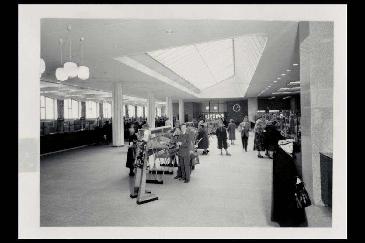interiør, postkontor, 5002 Bergen, publikumshall