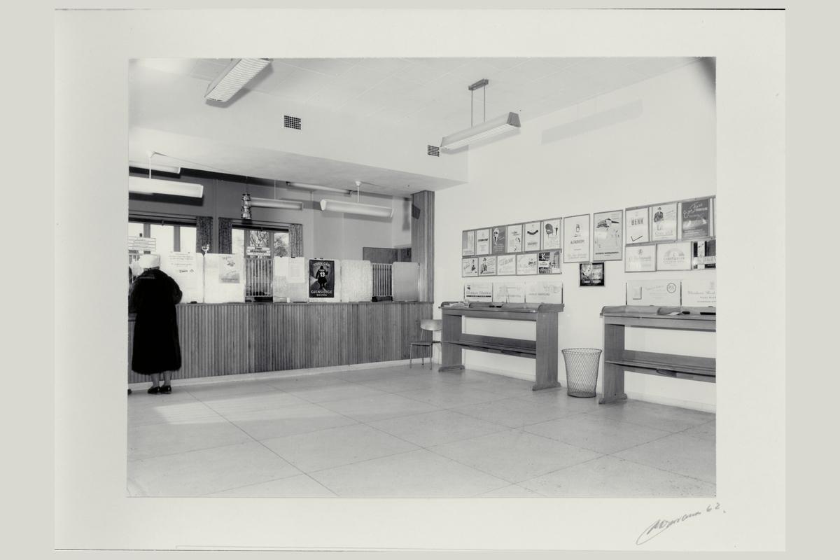interiør, postkontor, 2400 Elverum, publikumshall, kunde