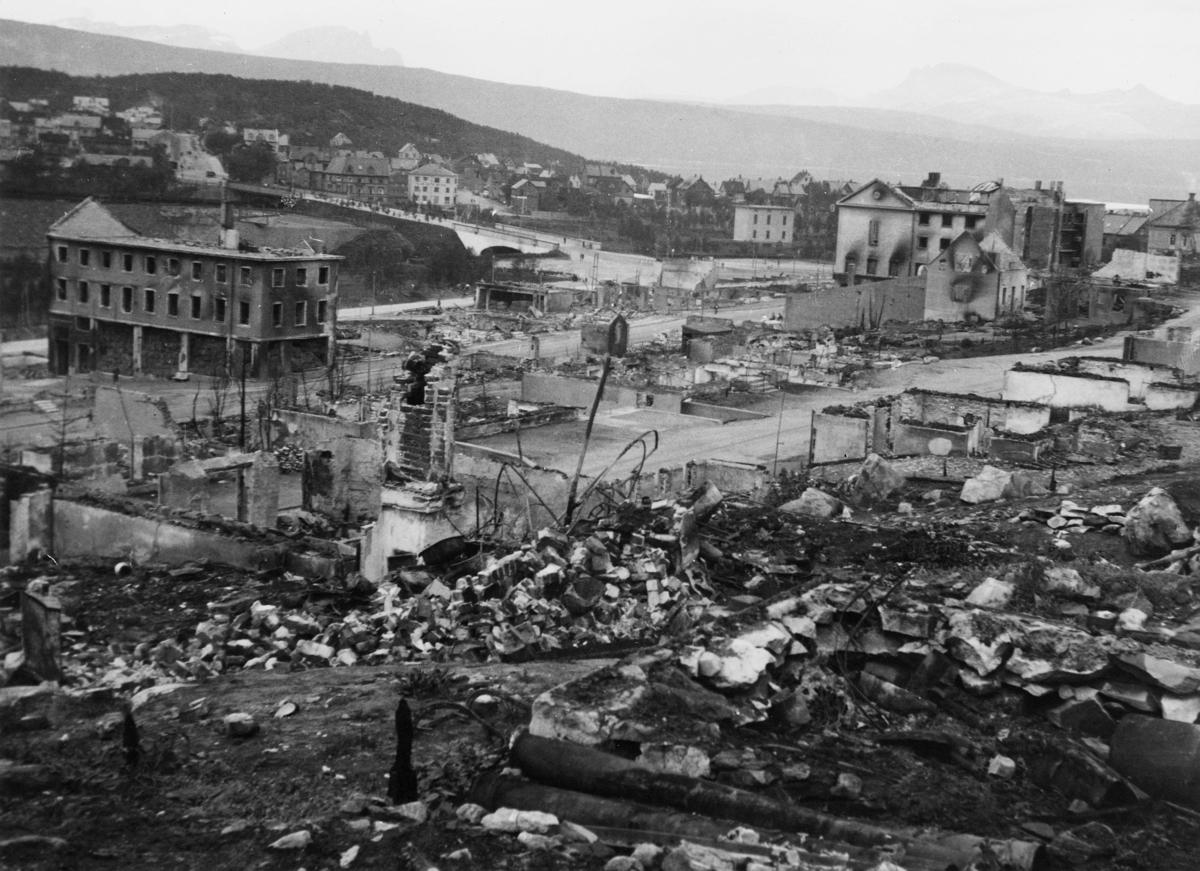 krigen, Narvik, eksteriør, ruiner