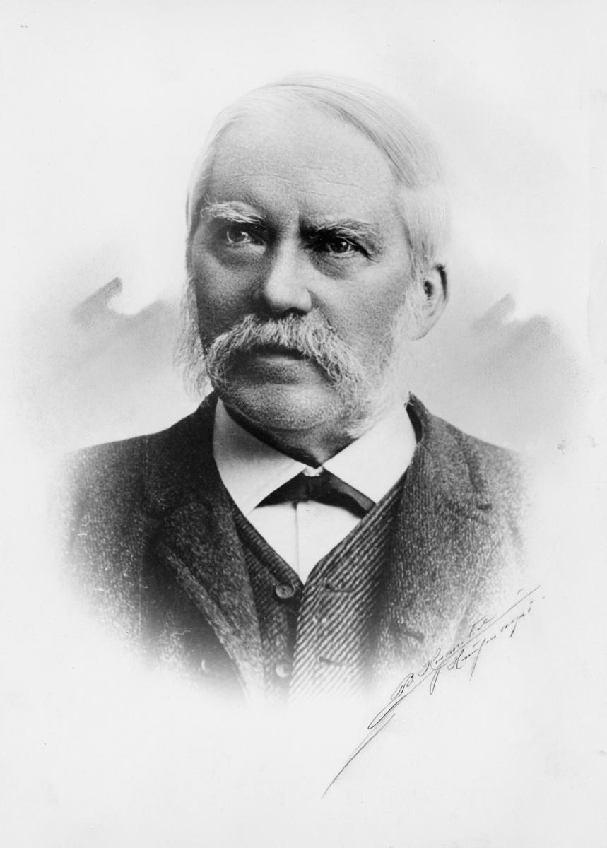 portrett, postmester, Albert Julius Hansen
